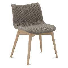 Domitalia Fenice-l Chair in wood and fabric / eco-leather