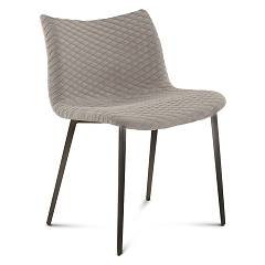 Domitalia Fenice-tr Chair in steel and fabric / eco-leather