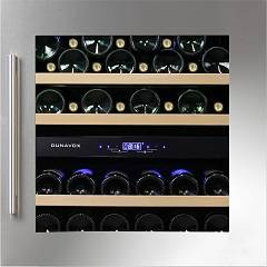 Dunavox Dab-36.80dss Cellar wine collection cm. 60 - 34 bottles - stainless steel