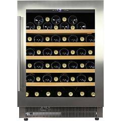 Dunavox Dau-52.146ss - Exclusive The wine cantina cm. 59 - 52 bottles - stainless steel