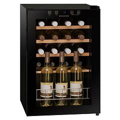 Dunavox Dx-20.62kf The wine cantina cm. 43 - 20 bottles - black glass free-standing