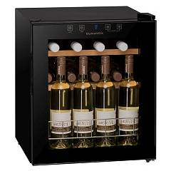 Dunavox Dx-16.46k The wine cantina cm. 43 - 16 bottles - black glass free-standing