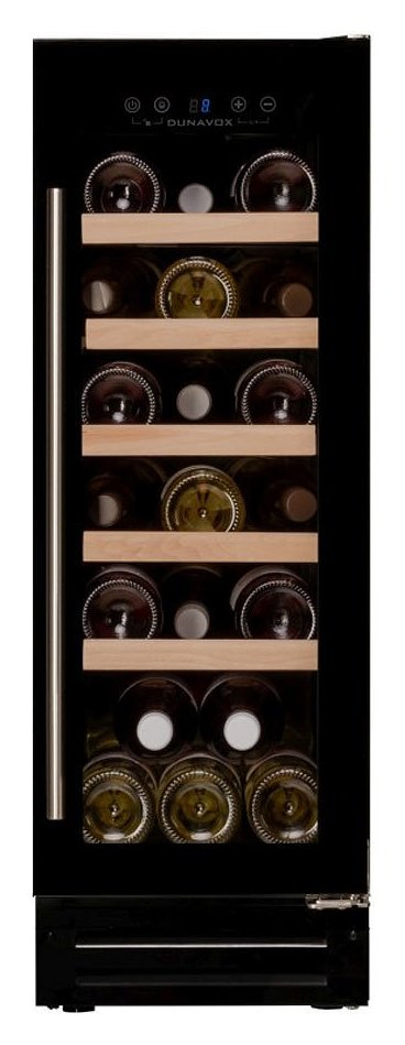 Photos 1: Dunavox DAU-19.58B Wine cellar cm. 30 - 19 bottles - black glass