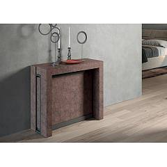 Easyline Micro Extendable console with structure and top / extensions in eco wood