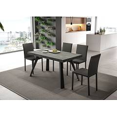 Easyline Agape Extendable table with metal frame and eco wood top
