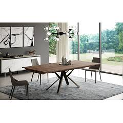 Easyline Lungo Largo Extendable table - metal frame and eco wood top