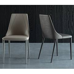 Easyline Victoria Chair completely covered in eco - leather eco nabuk