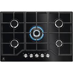 Electrolux Pvn752uov Gas cooking top cm. 74 - black temped crystal