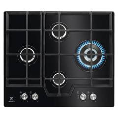 Electrolux Pvn646uov Gas cooking top cm. 60 - black temped crystal