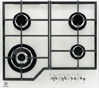 Photos 1: Electrolux PVB642UOV Gas cooking top cm. 60 - white tempature crystal
