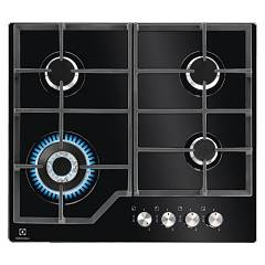Electrolux Pvn642uov Gas cooking top cm. 60 - black temped crystal