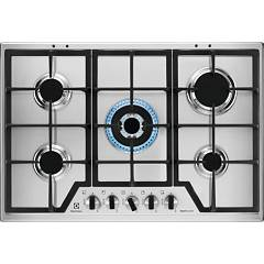 Electrolux Kgs7536xx Gas cooking top cm. 75 - inox griglie ghisa Slim Profile