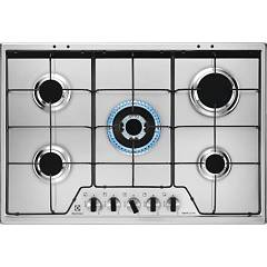 Electrolux Kgs7534xx Gas cooking top cm. 75 - inox glazed grids Slim Profile