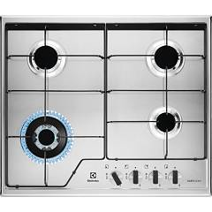 Electrolux Kgs6434xx Gas cooking top cm. 60 - inox glazed grids Slim Profile