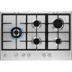 Electrolux Kgs7566sx Gas hob cm. 75 - stainless steel grids cast iron Slim Profile