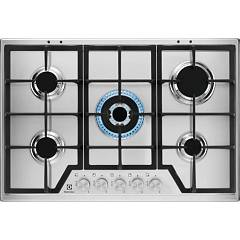Electrolux Kgs7536sx Gas cooking top cm. 75 - inox griglie ghisa Slim Profile