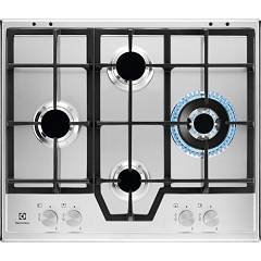 Electrolux Kgs6456sx Gas hob cm. 60 - stainless steel grids cast iron Slim Profile