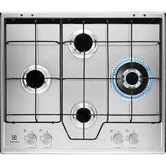 Electrolux Kgs6454sx Gas cooking top cm. 60 - inox glazed grids Slim Profile