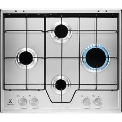 Electrolux Kgs6444sx Gas cooking top cm. 60 - inox glazed grids Slim Profile
