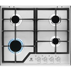 Electrolux Kgs6426sx Gas cooking top cm. 60 - inox griglie ghisa Slim Profile