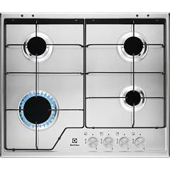 Electrolux Kgs6424sx Gas cooking top cm. 60 - inox glazed grids Slim Profile