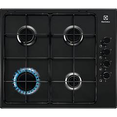 Electrolux Pnl641v Gas cooking top cm. 60 - black glazed grids Slim Profile