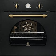 Electrolux Fr65g Oven cm. 60 - black cast iron handle and knobs in bronze Rustico