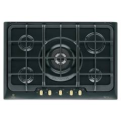 Electrolux Pn750ruov Cooking top cm. 75 - nero cast iron bronze finish handle Rustico