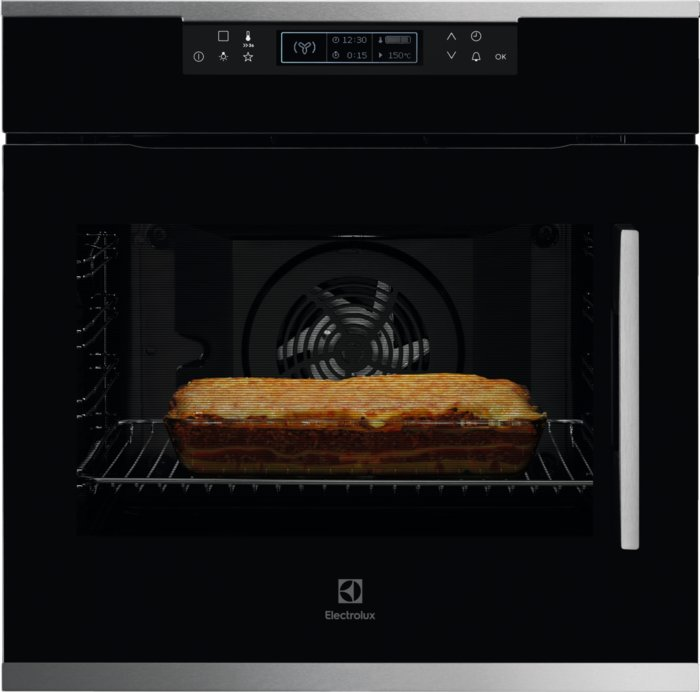 Photos 1: Electrolux KOFCP00LX Flex Multifunction oven cm. 60 - black - pyrolytic - door hinging on the left