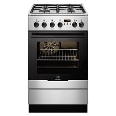 Electrolux Ekk54552ox Striking kitchen cm. 50 x 60 - stainless steel 1 electric oven + 4 gas burners