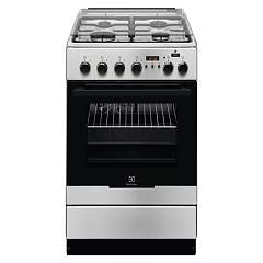 Electrolux Ekk54953ox Striking kitchen cm. 50 x 60 - stainless steel 1 electric oven + 4 gas burners