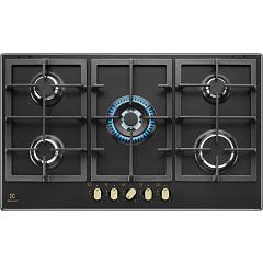 Electrolux Kgs9536rn Gas hob cm. 90 - cast iron black Pro-slim Profile 2.0