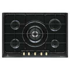 Electrolux Pn750ruv Cooking top cm. 75 - nero cast iron bronze finish handle Rustico