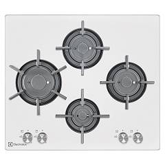 Electrolux Pvf645uob Cooking top cm. 60 - white crystal Gas On Glass Verticalflame