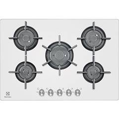Electrolux Pvf750uob Hob cm. 75 - white crystal Gas On Glass Verticalflame