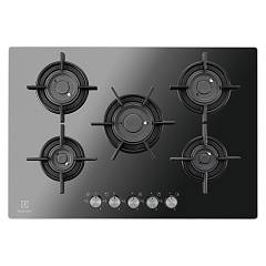 Electrolux Pvf750uons Cooking top cm. 75 - black mirror crystal Gas On Glass Verticalflame