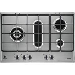 Electrolux Egh7459gox Recessed cooking top cm. 75 - inox with pescera Slim Profile