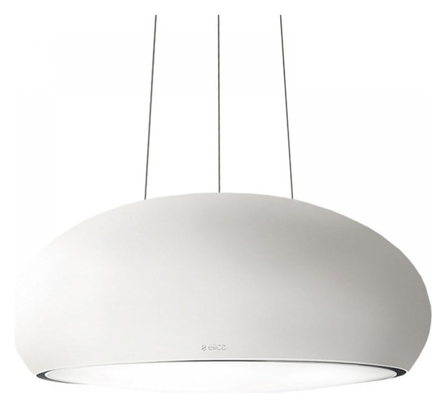 Photos 1: Elica PRF0098392 Seashell Suspended hood cm. 80 - opaque white