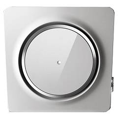 Elica Loop Wall hood cm. 75 - white cristalplant + white glass