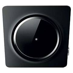 Elica Loop Bl/f/75 Wall hood cm. 75 - black cristalplant + black glass Loop