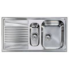 Elleci River 475 Anti-scratch stainless steel built-in sink 100 x 50 - left draining board River