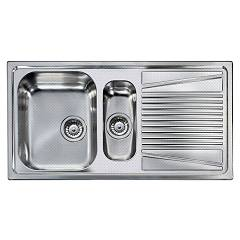 Elleci River 475 Stainless steel scratch-proof sink 100 x 50 - right drip River