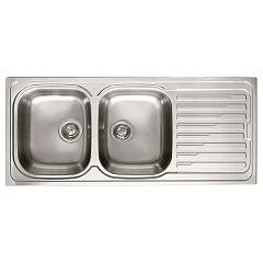 Elleci Sky 500 Stainless steel built-in sink 116 x 50 - right draining board Sky