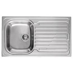 Elleci Sky 400 Stainless steel built-in sink 86 x 50 - right draining board Sky