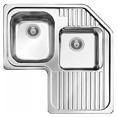 Elleci Sky Corner Stainless steel 83 x 83 corner sink - right draining board Sky