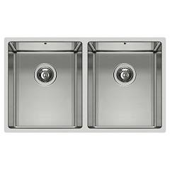 Elleci Square 720 2v R14 74.5 x 44 stainless steel built-in sink Square R14