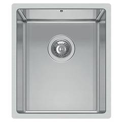 Elleci Square 340 R14 Stainless steel undermount sink 38 x 44 Square R14