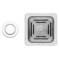 Elleci Asp16302 1-way automatic square drain kit Karisma Pop-up Push Control