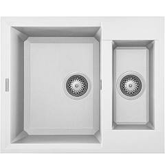 Elleci Easy 150 Built-in sink 60 x 50 - granitek - white Easy