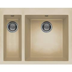 Elleci Quadra 150 Built-in sink 59 x 50 - keratek plus - champagne Quadra Standard